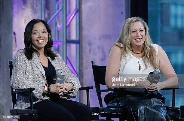 """Lucy McBath and Filmmaker Abigail Disney discuss """"The Armor Of Light"""" during AOL BUILD speaker series at AOL Studios In New York on October 29, 2015..."""