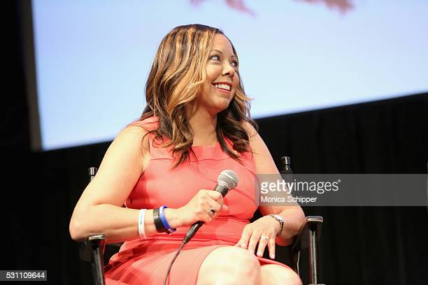Lucy McBath speaks on stage during the Under the Gun NY Premiere Event With Katie Couric Stephanie Soechtig on May 12 2016 in New York City