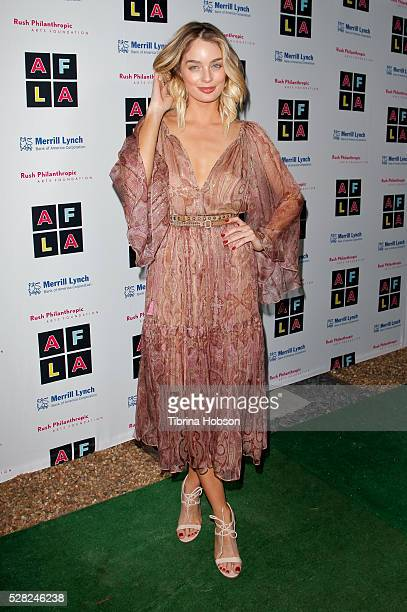 Lucy McIntosh attends Russell Simmons' Rush Philanthropic Arts Foundation's Inaugural Art For Life Celebration on May 3 2016 in West Hollywood...