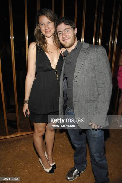 Lucy McIntyre and Jacob Bernstein attend ANDRE BALAZS'S Preview of THE BOOM BOOM ROOM at THE STANDARD at The Standard on September 12 2009 in New...