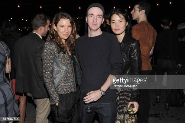 Lucy McIntyre KAWS and Julia Chiang attend Playboy presents the NUDE IS MUSE An Art Salon for Art Basel Miami 2010 at The Standard Hotel on December...