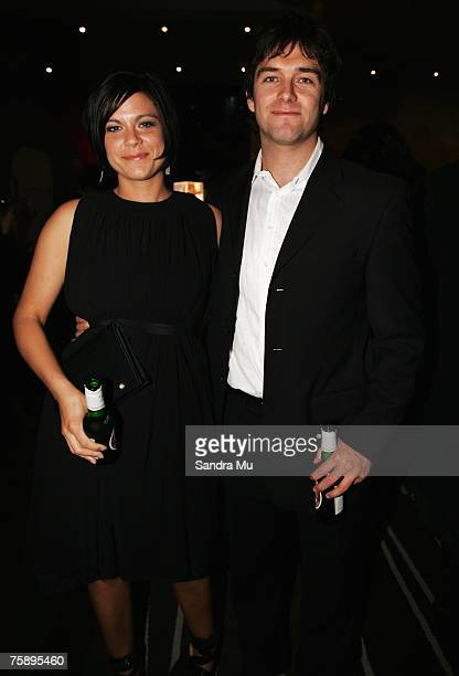 Lucy McLay and Antony Starr arrive at the Air New Zealand Screen Awards at Sky City Theatre on August 01 2007 in Auckland New Zealand The awards are...