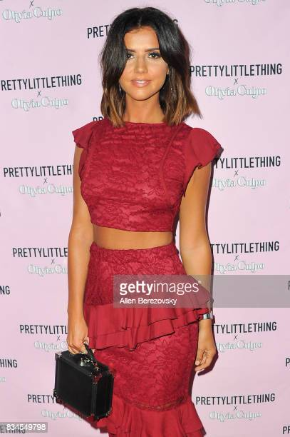 Lucy Meck attends PrettyLittleThing X Olivia Culpo Launch at Liaison Lounge on August 17 2017 in Los Angeles California