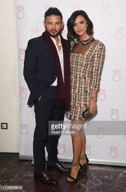 Lucy Mecklenburgh and Ryan Thomas attend a VIP performance of 'La Boheme' at London Coliseum on January 29 2019 in London England