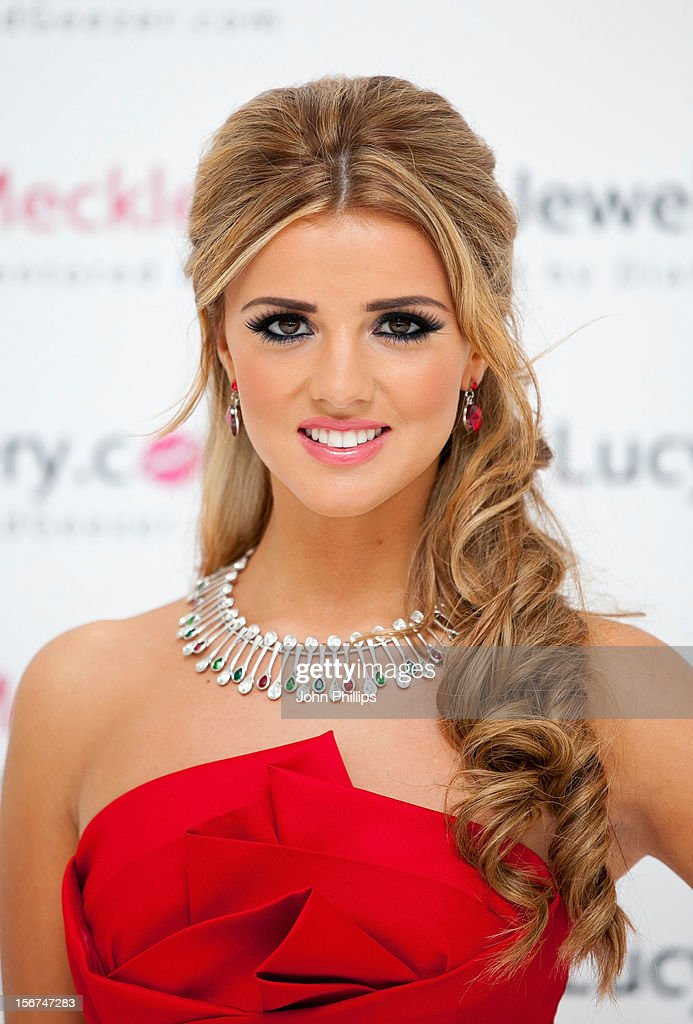 Lucy Mecklenburgh attends a photocall to launch her new Jewellery range at The Worx on November 20, 2012 in London, England.