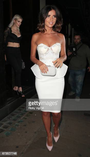 Lucy Mecklenburgh attends Boux Avenue SS17 campaign launch party at Century Club on April 26 2017 in London England