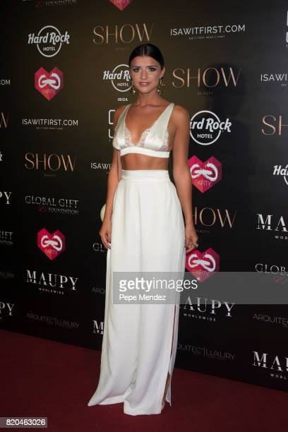 Lucy Mecklenburgh attends the Global Gift Gala party at STK Ibiza on July 21 2017 in Ibiza Spain