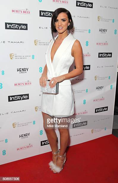 Lucy Mecklenburgh attends the InStyle EE Rising Star PreBAFTA Party at 100 Wardour Street on February 4 2016 in London England