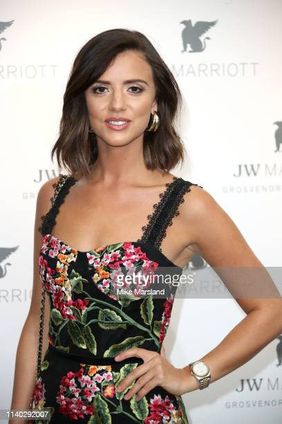 Lucy Mecklenburgh attends the JW Marriott Grosvenor House London 90th Anniversary at Grosvenor House on April 30, 2019 in London, England.