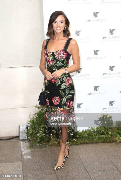 Lucy Mecklenburgh attends the JW Marriott Grosvenor House London 90th Anniversary at Grosvenor House on April 30 2019 in London England