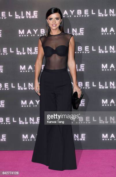 Lucy Mecklenburgh attends the Maybelline Bring on the Night party at The Scotch of St James on February 18 2017 in London United Kingdom
