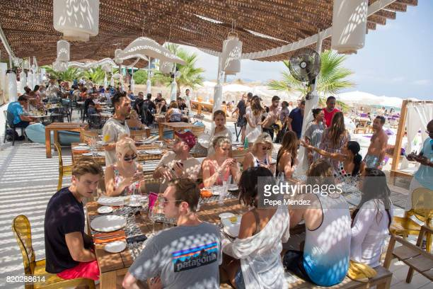 Lucy Mecklenburgh Oliver Cheshire Pixie Lott and Ashley Louise James are seen at Hard Rock Hotel Ibiza at the presentation of the Global Gift Beach...
