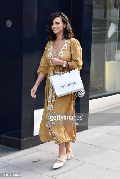 Lucy Mecklenburgh seen shopping at Pandora Marble Arch on July 06, 2020 in London, England.