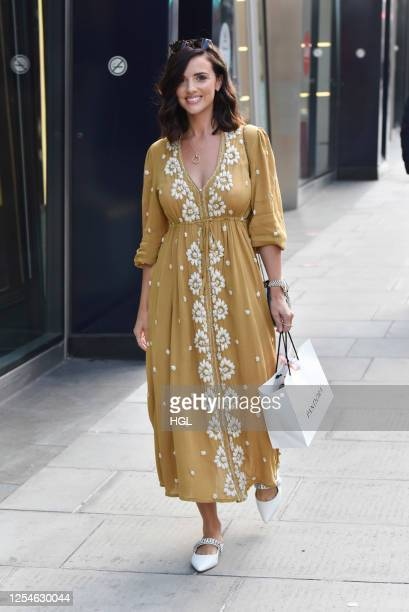 Lucy Mecklenburgh seen shopping at Pandora Marble Arch on July 06 2020 in London England