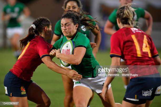 Lucy Mulhall of Ireland in action during the Rugby World Cup 2021 Europe Qualifying match between Spain and Ireland at Stadio Sergio Lanfranchi on...