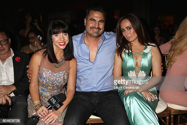 Lucy Norris Rocco Leo Gaglioti and Nina Vargas attend Art Hearts Fashion September 2016 during New York Fashion Week The Shows on September 13 2016...