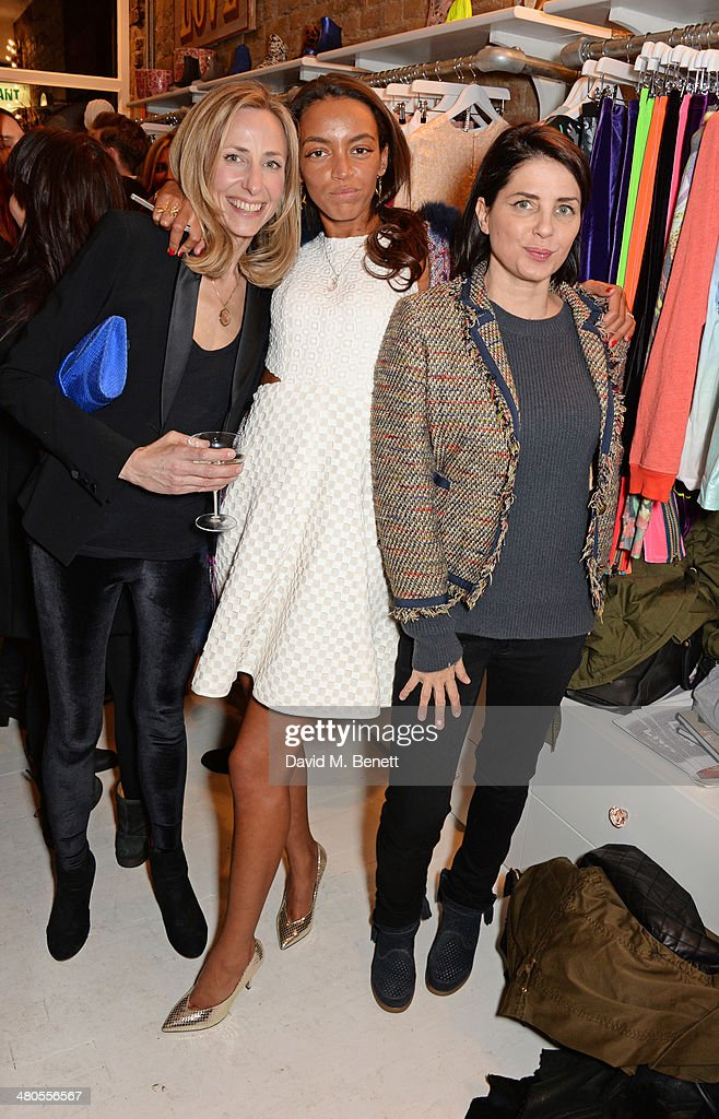 Lucy Olivier, Phoebe Pring and Sadie Frost attend the Lark London boutique launch party on March 25, 2014 in London, England.