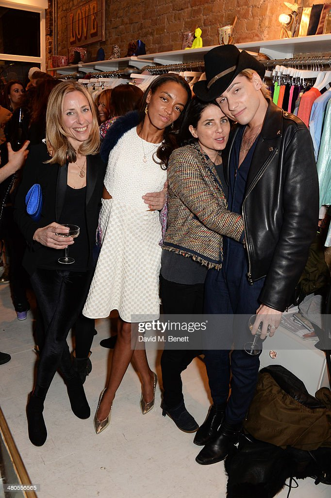 Lucy Olivier, Phoebe Pring, Sadie Frost and Kyle De'volle attend the Lark London boutique launch party on March 25, 2014 in London, England.