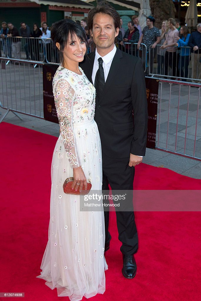 Lucy Owen and Rhodri Owen arrive for the 25th British Academy Cymru Awards at St David's Hall on October 2, 2016 in Cardiff, Wales.