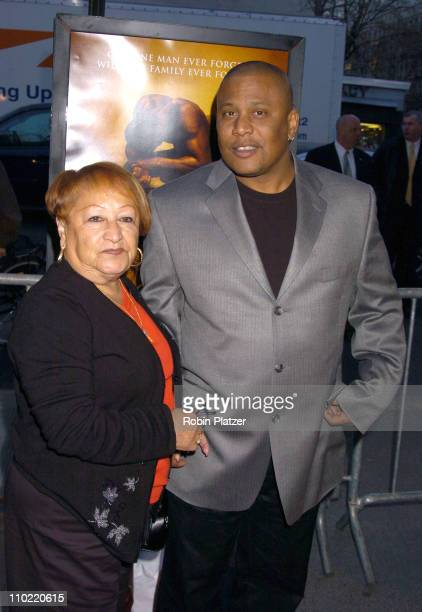 Lucy Paret and Benny Paret Jr during Ring of Fire The Emile Griffith Story New York City Premiere Arrivals at Beekman Theater in New York City New...