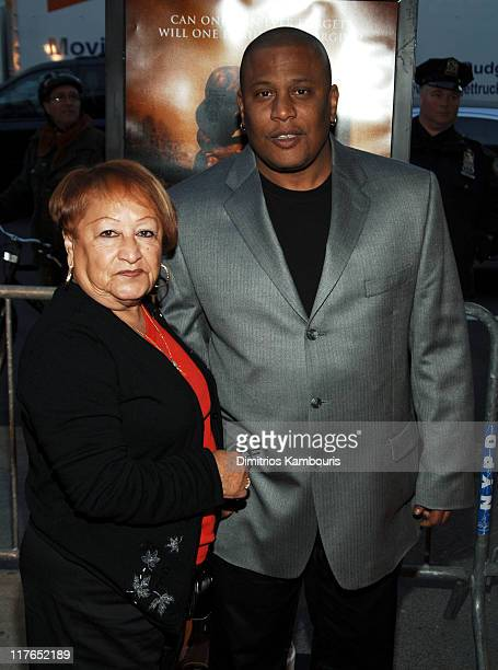 Lucy Paret and Benny Paret Jr during Ring Of Fire The Emile Griffith Story New York Premiere Arrivals at Beacon Theatre in New York City New York...