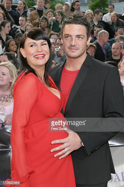 Lucy Pargeter and Rudi Coleano during 2005 British Soap Awards Arrivals at BBC Television Centre in London Great Britain