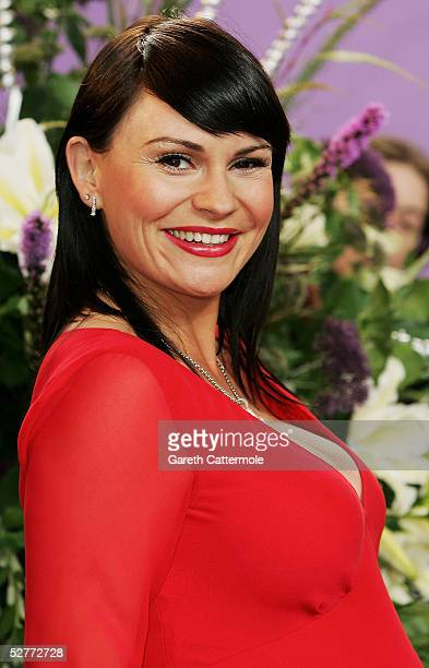 Lucy Pargeter arrives at the British Soap Awards 2005 at BBC Television Centre on May 7 2005 in London England The annual awards recognise the best...