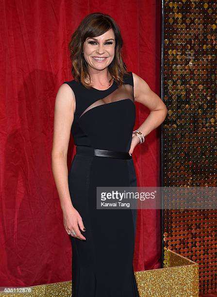 Lucy Pargeter arrives for the British Soap Awards 2016 at the Hackney Town Hall Assembly Rooms on May 28 2016 in London England