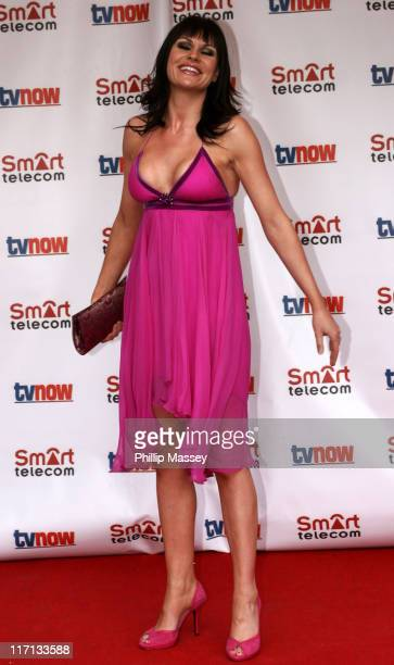 Lucy Pargeter during The Smart Telecom TVNow Awards Arrivals at Mansion House in Dublin Great Britain