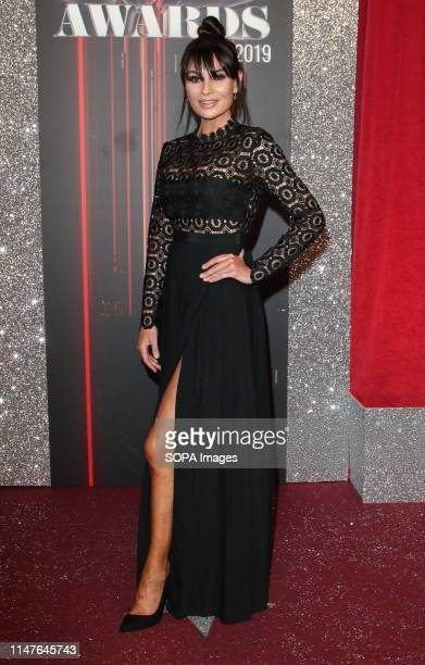 Lucy Pergeter arrives on the red carpet during The British Soap Awards 2019 at The Lowry, Media City, Salford in Manchester.