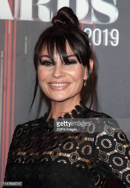 Lucy Pergeter arrives on the red carpet during The British Soap Awards 2019 at The Lowry Media City Salford in Manchester
