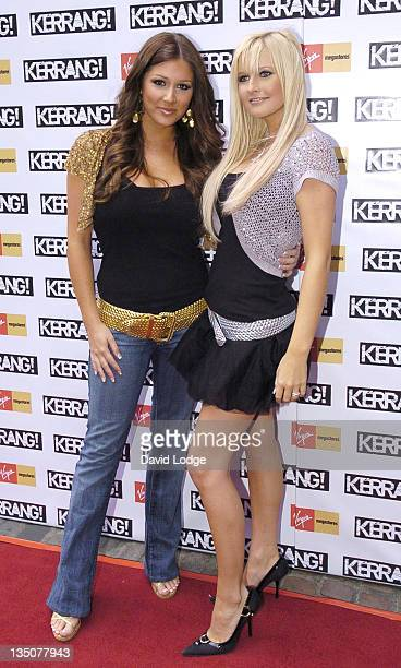 Lucy Pinder and Michelle Marsh during 2005 Kerrang Awards at The Brewrey in London Great Britain