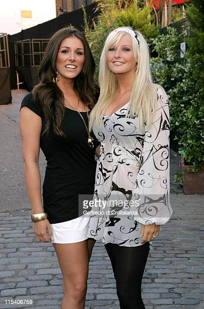 Lucy Pinder and Michelle Marsh during Lynx Boost Party Outside Arrivals July 6 2006 at The Cross Nightclub in London Great Britain