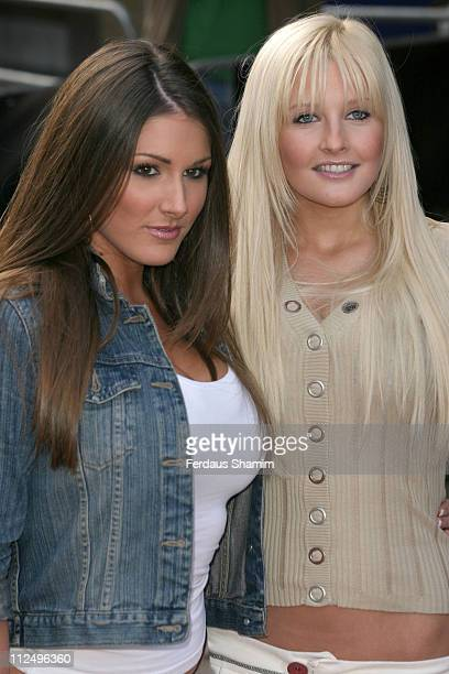 """Lucy Pinder and Michelle Marsh during """"The Interpreter"""" - London Premiere - Arrivals at Empire Leicester Square in London, Great Britain."""
