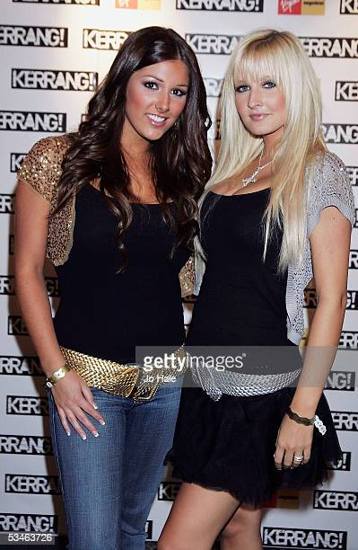 Lucy Pinder and Michelle Marsh pose in the Awards Room at the Kerrang Awards 2005 at the music magazine's prestigious awards at The Brewery in London...