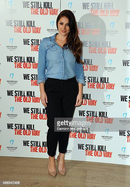 Lucy Pinder attends a photocall for We Still Kill The Old Way at Ham Yard Hotel on September 29 2014 in London England