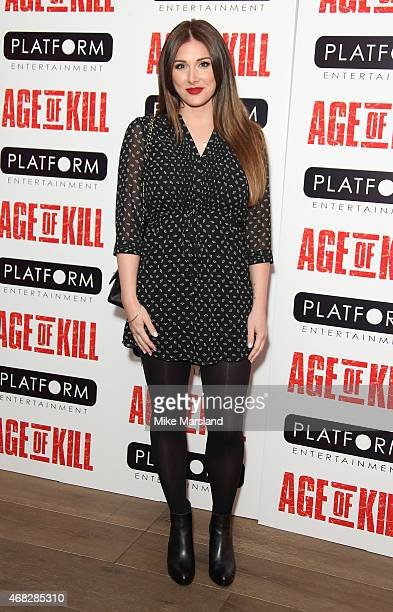 Lucy Pinder attends a private screening of Age Of Kill at Ham Yard Hotel on April 1 2015 in London England