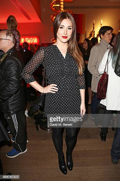 Lucy Pinder attends a private screening of Age Of Kill at The Ham Yard Hotel on April 1 2015 in London England
