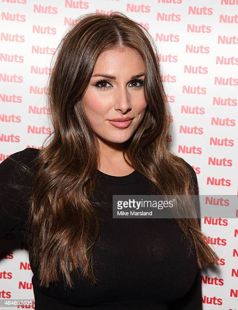 Lucy Pinder attends Nuts 10th Birthday Party at Aura on January 23 2014 in London England