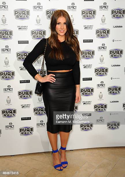 Lucy Pinder attends the launch of the new 2014 Super Car Rally at Millennium Mayfair Hotel on January 23 2014 in London England