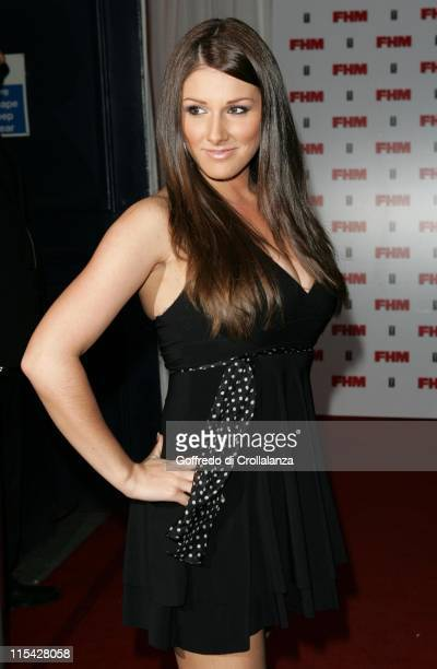 Lucy Pinder during The FHM 100 Sexiest Women In The World Party 2006 Outside Arrivals at Madame Tussauds in London Great Britain