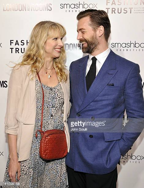 Lucy Punch and Patrick Grant attend the British Fashion Council's LONDON Show ROOMS LA opening cocktail party at Smashbox Studios on March 12 2012 in...