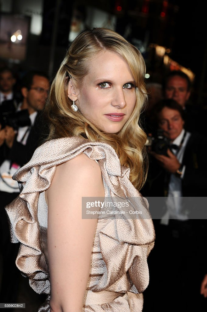 Lucy Punch at the Premiere for 'You will meet a tall dark stranger' during the 63rd Cannes International Film Festival.