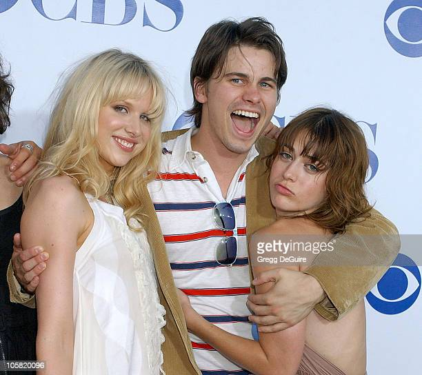 Lucy Punch Jason Ritter and Lizzy Caplan during CBS Summer 2006 TCA Press Tour Party Arrivals at Rose Bowl in Pasadena California United States