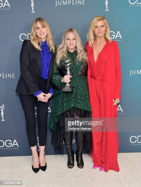 Lucy Punch Marina Toybina recipient of the Excellence in Variety RealityCompetition Live Television and Eliza Coupe attend the 22nd CDGA at The...