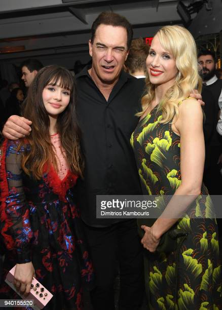 Lucy Punch Patrick Warburton and Malina Weissman attend the Netflix Premiere of 'A Series of Unfortunate Events' Season 2 on March 29 2018 in New...