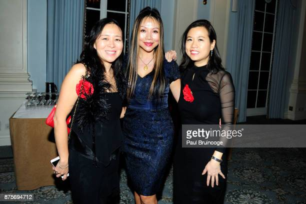 Lucy Riederer Victoria RongKennedy and Conlyn Chan attend New York's Mulan Club's Inaugural Gala at The Yale Club on November 17 2017 in New York City