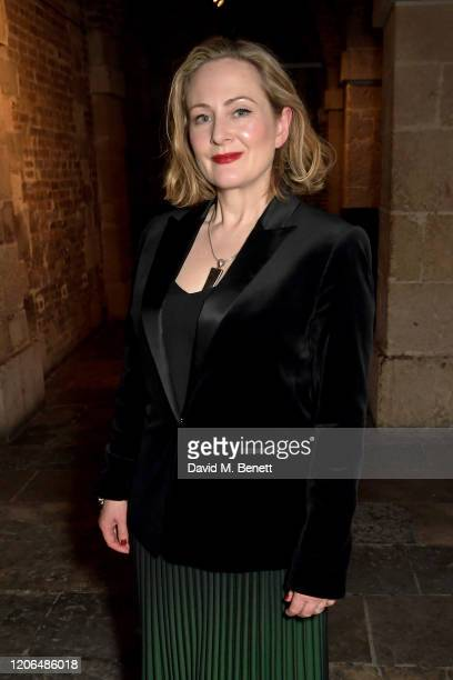 Lucy Robinson attends the press night after party for Blithe Spirit at The Cafe at the Crypt on March 10 2020 in London England