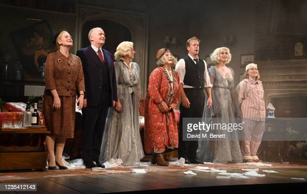 Lucy Robinson, Simon Coates, Lisa Dillon, Jennifer Saunders, Geoffrey Streatfeild, Madeleine Mantock and Rose Wardlaw take the curtain call attend...