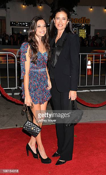 Lucy RogersCiaffa and Mimi Rogers arrive at the Unstoppable Los Angeles Premiere at Regency Village Theatre on October 26 2010 in Westwood California